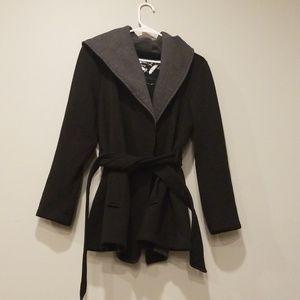 Sebby coat with tie front
